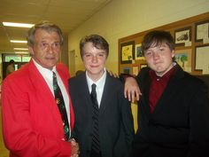 My son is on the far right, his good friend in the middle, and one of their teachers at their 8th grade graduation