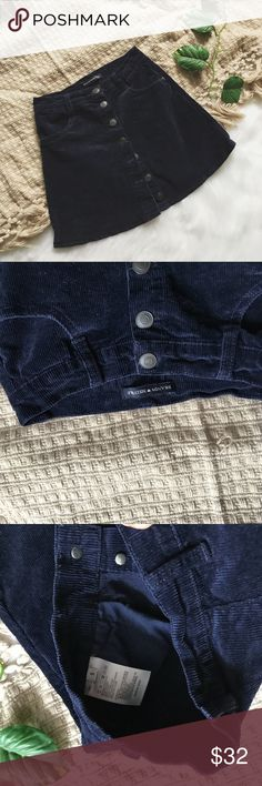 Brandy Melville skirt Perfect condition corduroy skirt Dark navy color  Size small Stretchy Brandy Melville Skirts