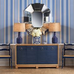 Bungalow 5 Mariah Dark Blue Table Lamp Base @Zinc_Door