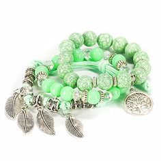 Bogo Arty Multilayer Hand Beaded Stretch Bracelet Fashion Women Charms Crystal Wrist Bracelet - Product Size: Each bracelet length about 7.1 inches (18cm) Product Weight: Approx.1.8 ounces Style: Trendy, Fashionable • Nice accessories, using new materials, 100% quality. • Handmade bracelets by expert artisans, ensuring long-lasting durability and perfect fit. Suitable for the ...