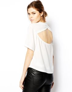 ASOS T-Shirt with Cut Out Back