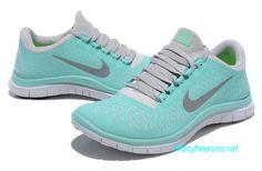 Tropical Twist Blue Nikes Free 3.0 V4 Womens Blue White Silver 511495 300