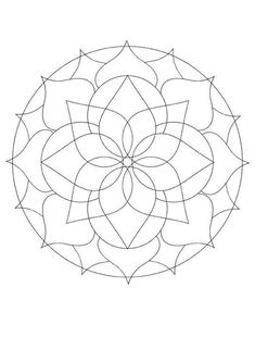 printable mandalas for beginners Printable Stencil Patterns, Mandala Printable, Blank Coloring Pages, Mandala Coloring Pages, Mandala Doodle, Mandala Art, Mandalas To Color, Geometric Pattern Design, Mandala Design