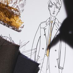 Sketches and swatches from the design studio as @Burberry prepares for tomorrow's Menswear S/S16 show #LCM #BurberryShow