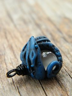 Moonstone Blue Dragon Pendant by TreeWingsStudio, via Flickr