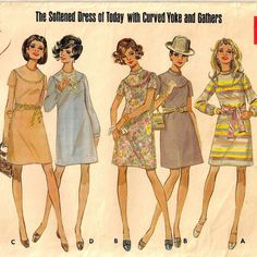 A Slim, Straight Column Dress Pattern with Neckline and Sleeve Variations by So Sew Some!