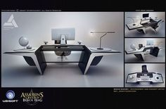Desk Design - Characters & Art - Assassin's Creed IV: Black Flag