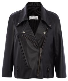 Maison Martin Margiela black leather jacket