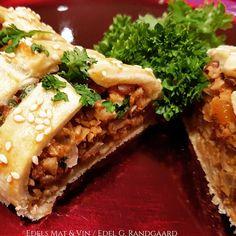 Edels Mat & Vin: Innbakt nøttestek i porsjonpakker 🌿 Cheesesteak, Bbq, Chicken, Ethnic Recipes, Food, Barbecue, Barrel Smoker, Essen, Meals