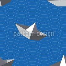 Hochqualitative Vektor-Muster auf patterndesigns.com - Papierschiff Vektor Ornament, designed by Matthias Hennig, Deutschland