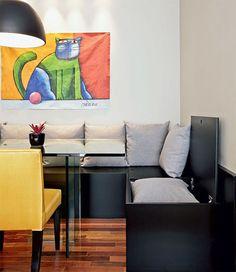 Canto alemão é uma boa opção para quem tem uma sala de jantar pequena com pouco espaço para cadeiras e circulação pois consiste em um banco fixo em uma ou mais paredes perto da mesa de jantar assim…