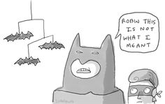 Testosterone is messing with your verbal skills! Art Jokes, You Had One Job, Im Batman, Batman Robin, Batmobile, Laughing So Hard, Laugh Out Loud, I Laughed, Funny Memes