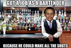 Stephen Curry's Side Job! - http://nbafunnymeme.com/stephen-currys-side-job/