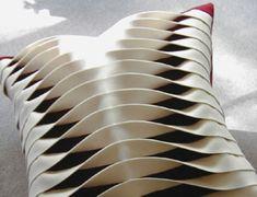 Gallery Twist cushion of Anne Kyyro Quinn, made of wool felt