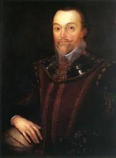 Sir Francis Drake, sea captain during the Elizabethan I era. Photo circa 1596
