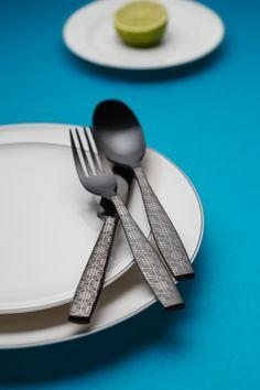 Black Cutlery set - Gaya - Sola Switzerland Black Cutlery, Cutlery Set, Switzerland, Satin, Tableware, Dinnerware, Elastic Satin, Tablewares, Dishes