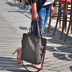 Khaki Canvas Schultertasche, Umhängetasche, Handtasche, Laptop Tasche, Einkaufstasche, Damen Tasche, Herren Tasche,…