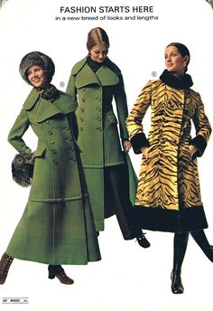 70's maxi coats - I had one of these only a different color. This zips off to make a regular coat.