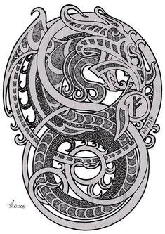 Celtic Tattoo Ideas – How to Get an Ideal Celtic Tattoo Design Tatto Viking, Norse Tattoo, Celtic Tattoos, Wiccan Tattoos, Inca Tattoo, Indian Tattoos, Viking Symbols, Viking Art, Viking Runes