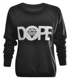 Percy Black 'Dope' Diamond Print Sweatshirt