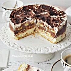 Cake Banana Cake Sky Without Baking- Ciasto Torcik Bananowe Niebo Bez Pieczenia about - Cake Recipes, Dessert Recipes, Shortbread Recipes, Salty Cake, Sweets Cake, Cake Flavors, Savoury Cake, No Bake Desserts, Clean Eating Snacks