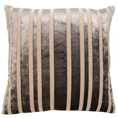 Dakota Stripe Pillow in various sizes design by Square feathers