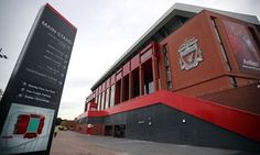 The exterior of the new Main Stand of Anfield