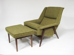 Folke Ohlsson lounge chair and ottoman by Dux 3