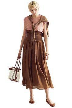 この夏の注目色 「ブラウン」の着こなしサンプル16 | GISELe(ジゼル) | 主婦の友社「GISELe」オフィシャルサイト