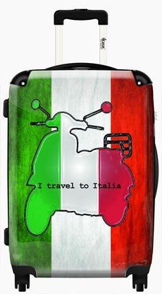 Suitcase Italian flag drawing