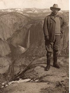 Teddy Roosevelt at Glacier Point, Yosemite, CA