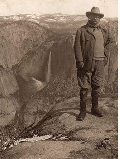 Teddy Roosevelt at Glacier Point, Yosemite, CA