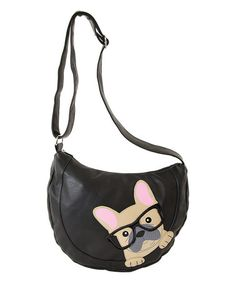 Loving this Black French Bulldog Crossbody Bag on #zulily! #zulilyfinds