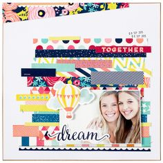 Layout: Starshine by Shimelle for American Crafts