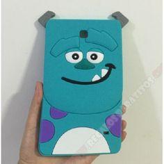 """Carcasa monstruo azul silicona para Samsung Galaxy Tab 4 de 7"""""""