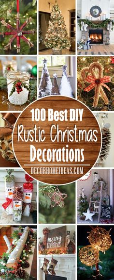 100 Rustic Christmas Decorations For a Warm Cozy Home Best DIY Rustic Christmas Decorations and Decor Ideas Source by trendytree Rustic Christmas Crafts, Pallet Christmas Tree, Easy Christmas Decorations, Christmas Swags, Farmhouse Christmas Decor, Burlap Christmas, Christmas Mantels, Cozy Christmas, Primitive Christmas
