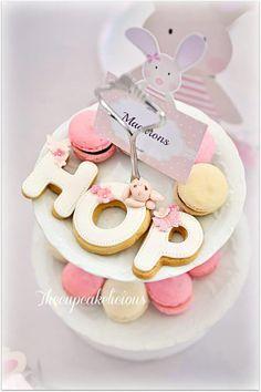 Adorable bunny cookies! Via Kara's Party Ideas @HUGGIES Baby Shower Planner Baby Shower Planner Baby Shower Planner