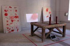'fugitive' drawing installation