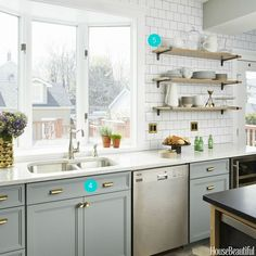This family space was invigorated with new fixtures, mixed metals, and some good old-fashioned rearranging.