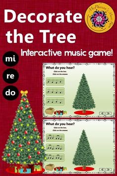 Rhythm Game (eighth notes)! Your elementary music students will love this interactive music game and watching the tree decorate before their eyes. Engaging activity to add to lesson. Excellent resource for Orff and Kodaly classrooms! Rhythm Games, Music Games, Music Mix, Music Classroom, Music Teachers, Classroom Ideas, Elementary Music Lessons, Piano Lessons, Music Lesson Plans