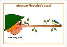 Pinocchio nose-measuring sheets (SB2112) - SparkleBox