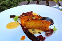 Pumpkin...Being Savory | Chef Todd Richards - Roasted pumpkin brushed with olive oil pan crisped Spanish chorizo (add pumpkin to the pan and sear until caramelized). Topped with toasted seeds and served with  cranberry mole.