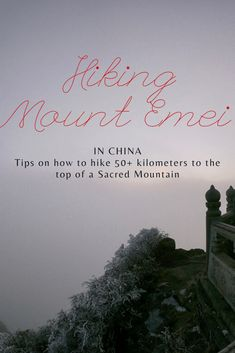 Emei Shan Hike: Trekking in Sichuan Province, China - Snook Outta Water Travel Guides, Travel Tips, Sacred Mountain, Winter Hiking, Above The Clouds, China Travel, Ultimate Travel, Travel Goals, Trekking