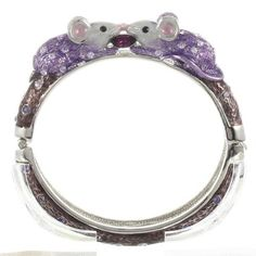 cute!  Purple Mouse Bangle