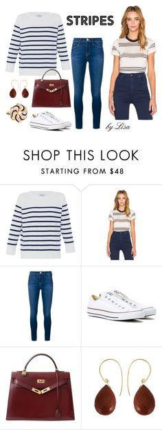 """""""Stripes please"""" by coolmommy44 ❤ liked on Polyvore featuring HANIA by Anya Cole, Rolla's, Frame Denim, Converse, Hermès, Uzerai Edits, stripes and polyvorecontest"""