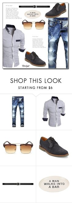 """""""A man walks into the bar"""" by azra-90 ❤ liked on Polyvore featuring G.H. Bass & Co., Yves Saint Laurent, Men's Society, men's fashion and menswear"""