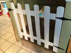Homemade baby gate using pieces of an old fence!