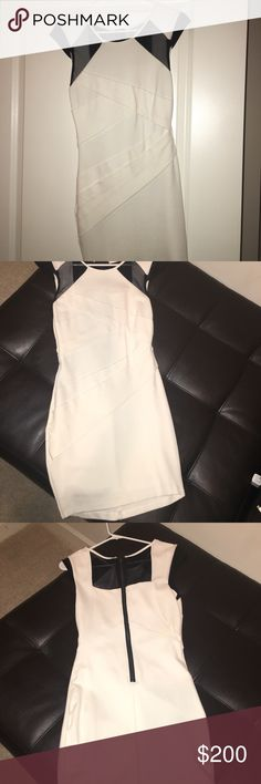 White Bebe dress XS never worn Tight fitting Bebe dress! Never wore it before! bebe Dresses Mini