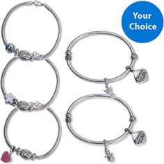 """Your Choice Connections from Hallmark """"Celebrate Life"""" Bangle or Bracelet Set, 7.75"""""""