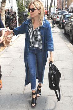 Sienna Miller wears Kurt Geiger 'Nata' peep toe boots
